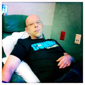 Here I am during the summer of 2011 - about to get chemotherapy to help rid my body of  Hodgkins lymphoma. #19for19