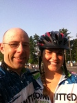 With Jessica from South Boston - we shared the 'fun' of needing bike repairs only 9 miles into the ride