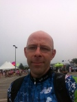 Me in Bourne, after the finish. I was too concerned about getting this self-portrait taken and forgot to smile. I was very happy to be back in Bourne!