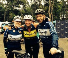 Annual Team Forza-G Living Proof photo! Betsy (left), Suzanne, and me.