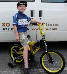 Team Forza-G's Pedal Partner, Mason. We've been the Pedal Partner for Mason and his family since 2009, through treatment, through remission, and again, it seems, treatment. I am thinking of young Mason and his family as we enter this holiday season.