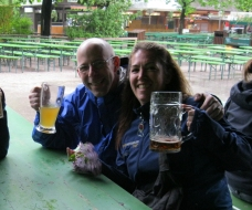 Kathy and I worked together at Harpoon. We traveled to Munich together in May 2010 with many of our colleagues on the annual Harpoon European Beer Culture Trip (yes, awesome!). Less than a year later, we were surprisingly both undergoing treatment. She has become a strong advocate for fellow survivors!